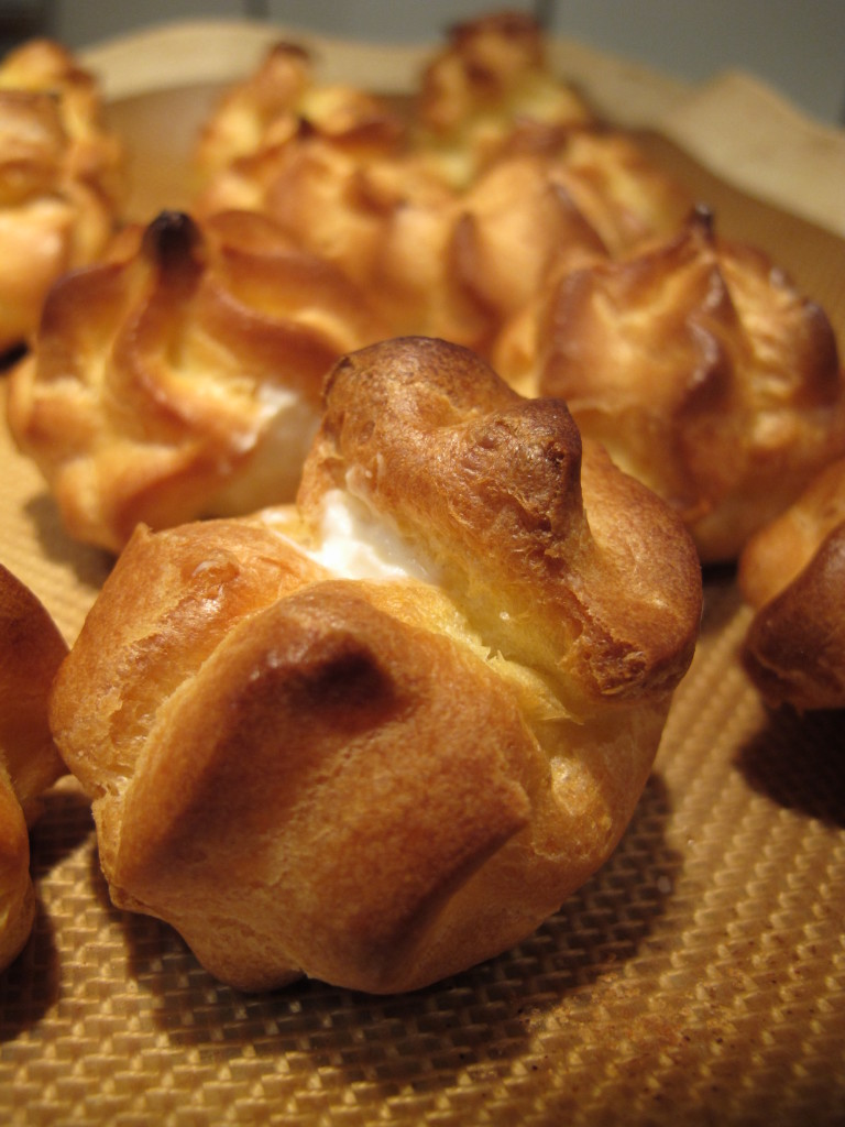 Pork ala creme normande waffle chips paris brest 070