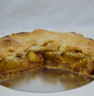 Brown butter peach tourte - etc 134