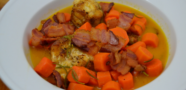 French Fridays:  Monkfish with Double Carrots