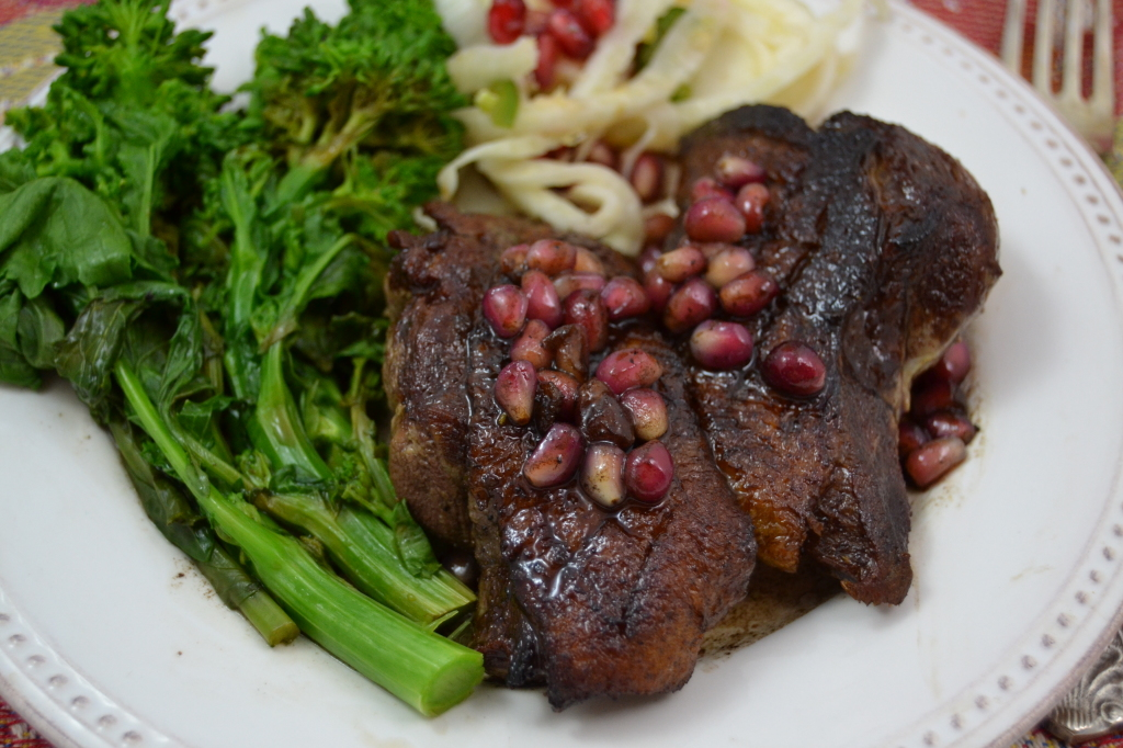 Duck Breast with Pomegranate Sauce