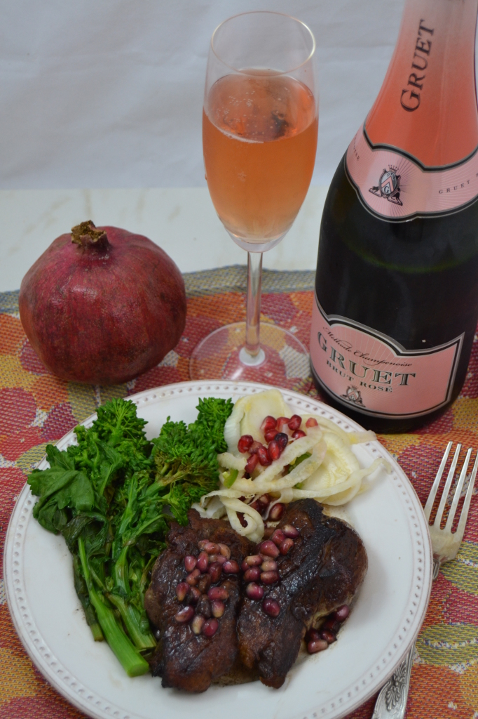 Gruet Brut Rose and Duck Breast