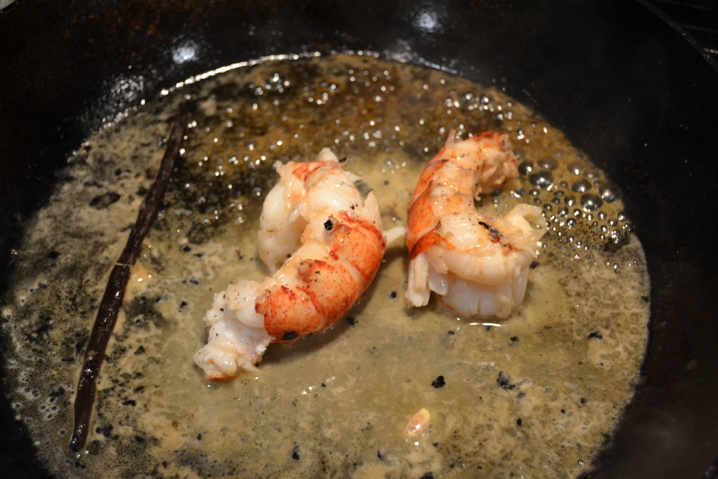 Sous Vide Lobster Tails with Champagne Vanilla Butter Sauce