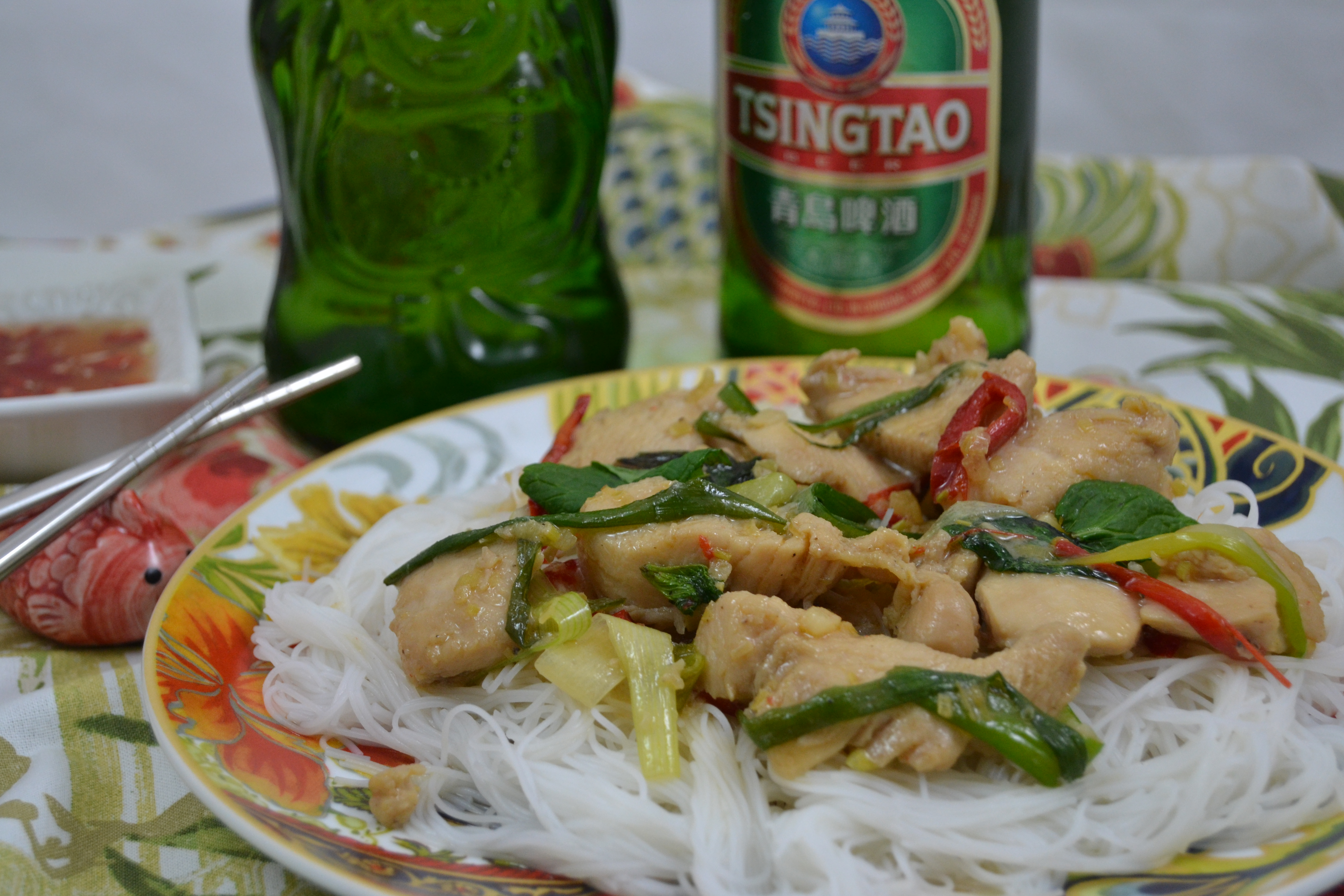 Christy majors chinese new year celebration with martin yan lemongrass chicken over rice stick noodles forumfinder Gallery