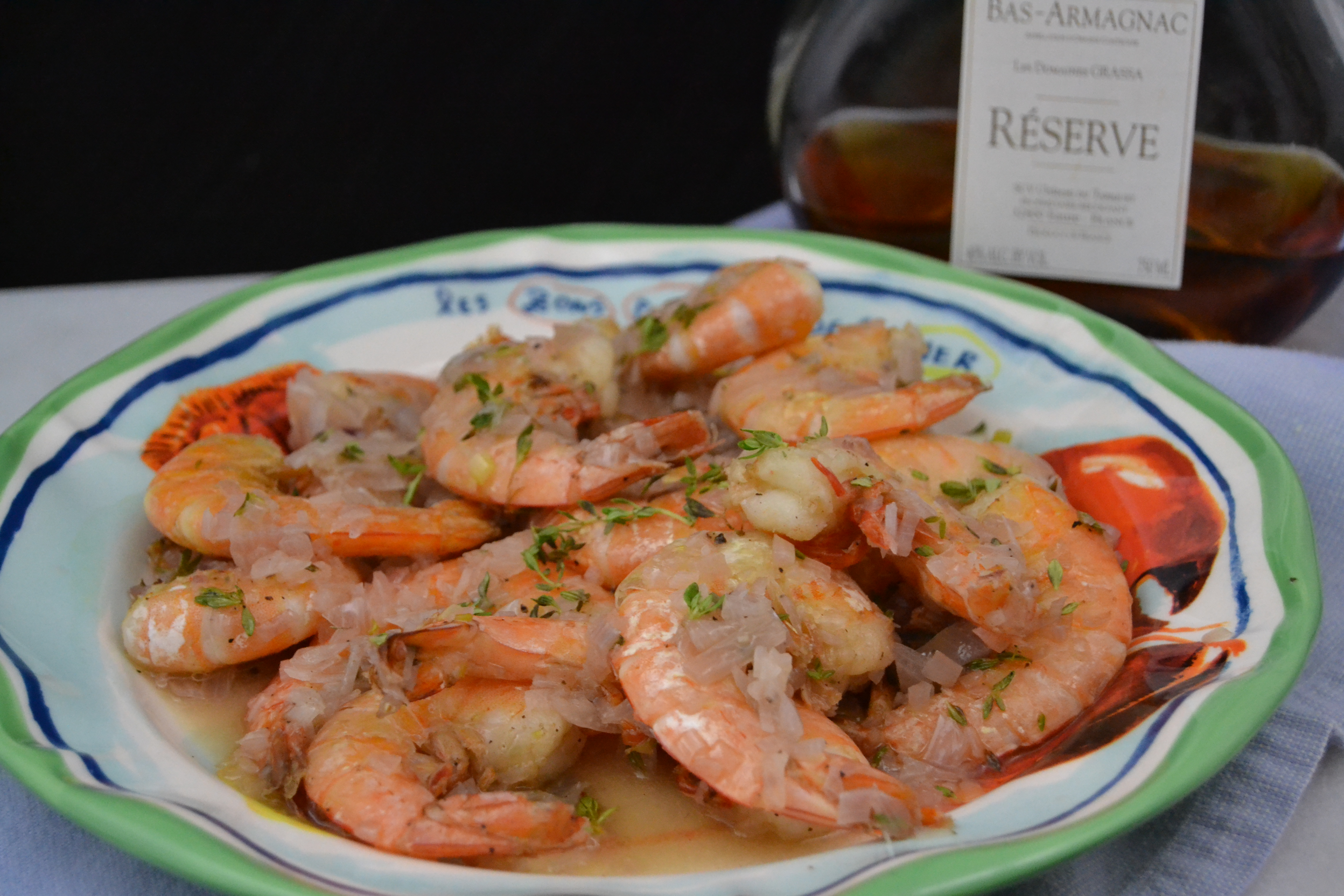 Shrimp with Armagnac