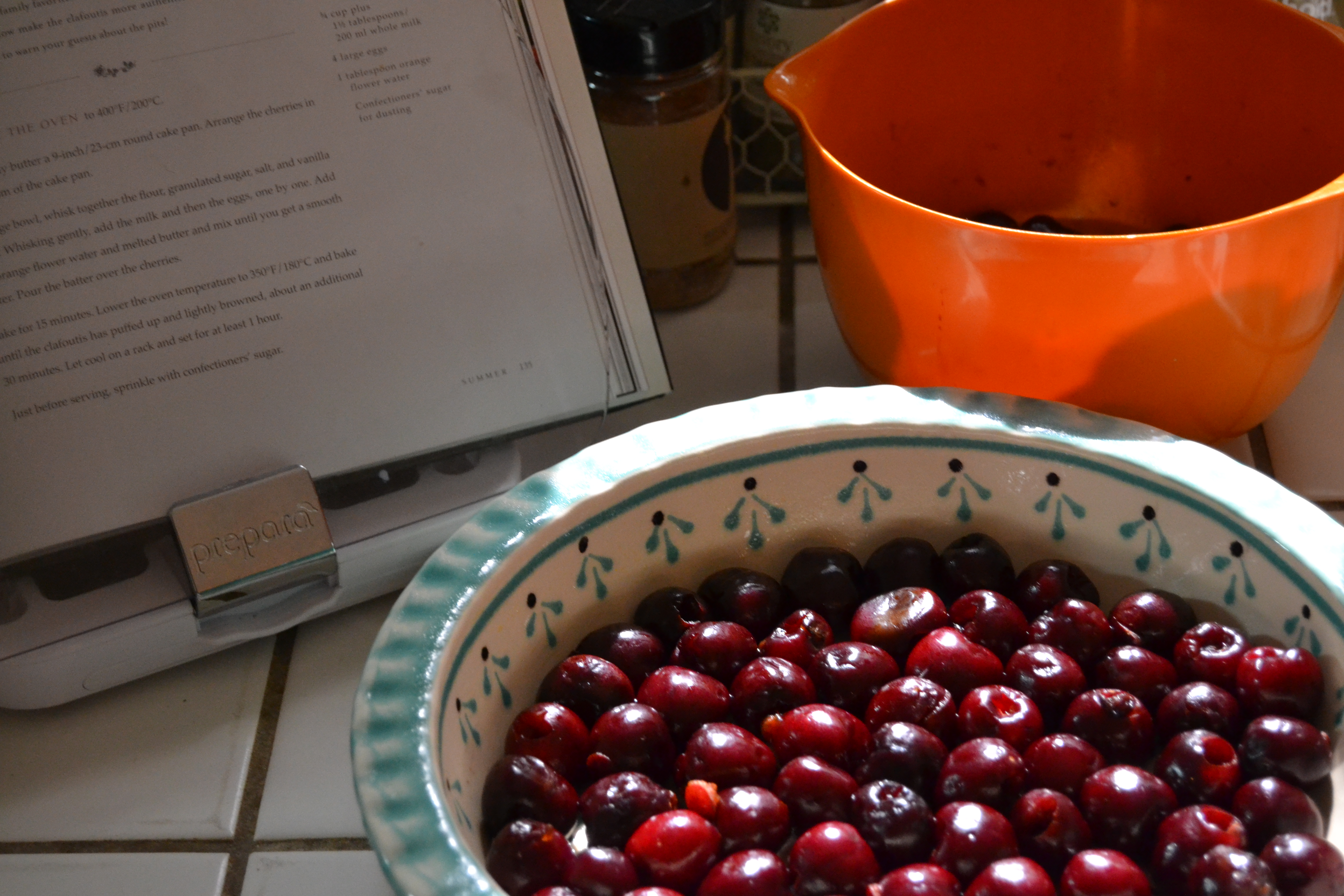 Pitted Cherries for Cherry Clafoutis