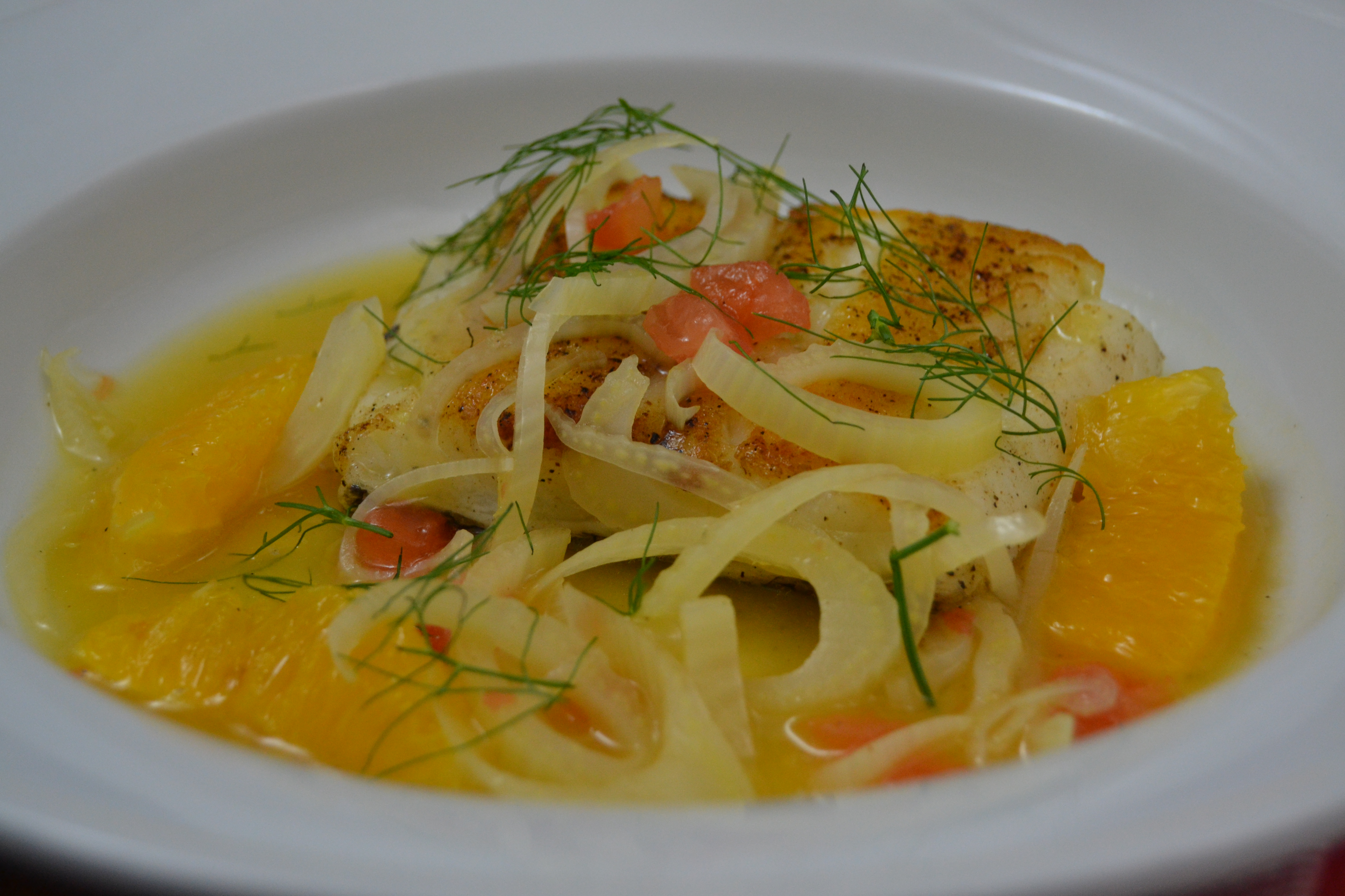 Sea Bass with Fennel and Orange