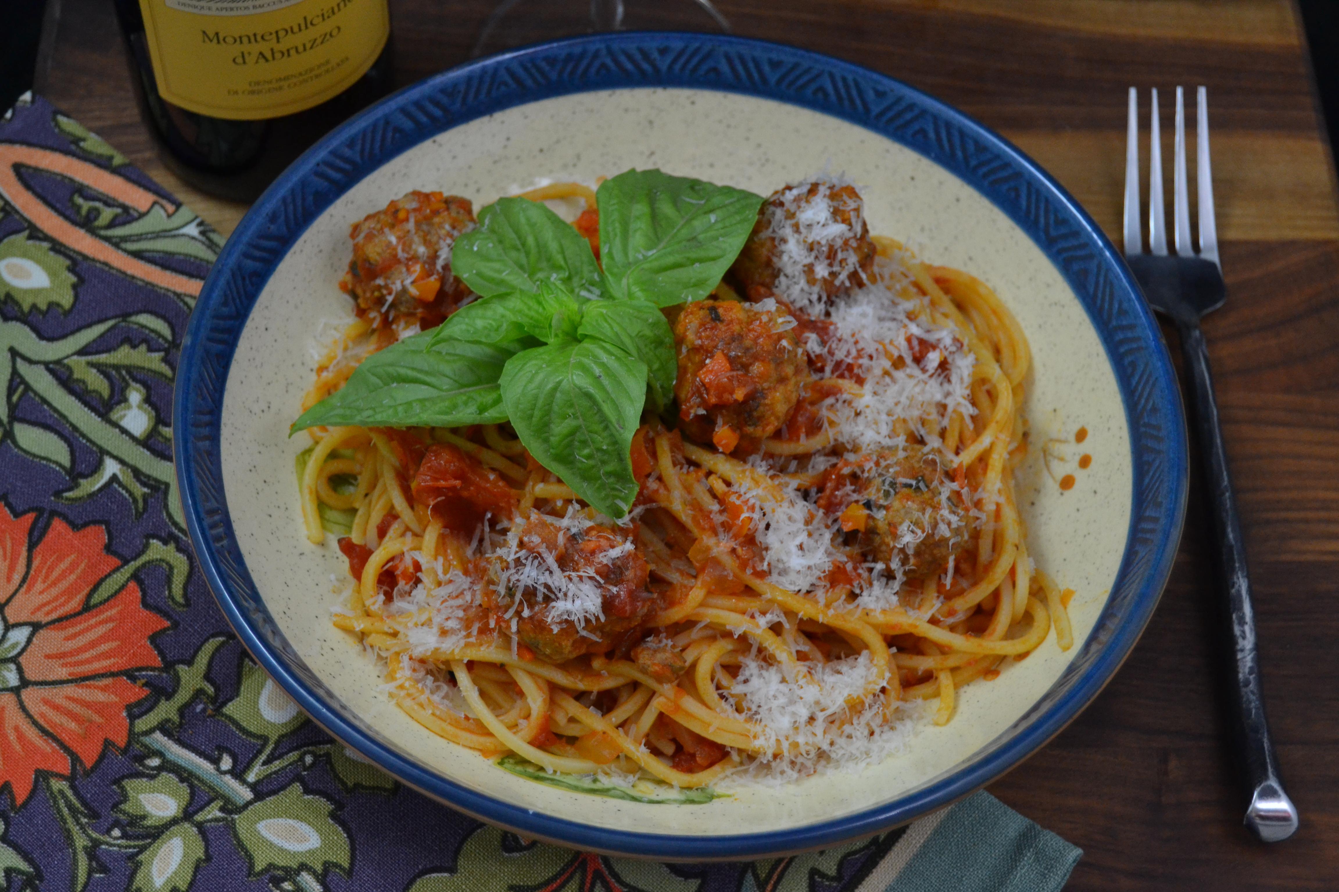 Abruzzo - Chitarra with meatballs