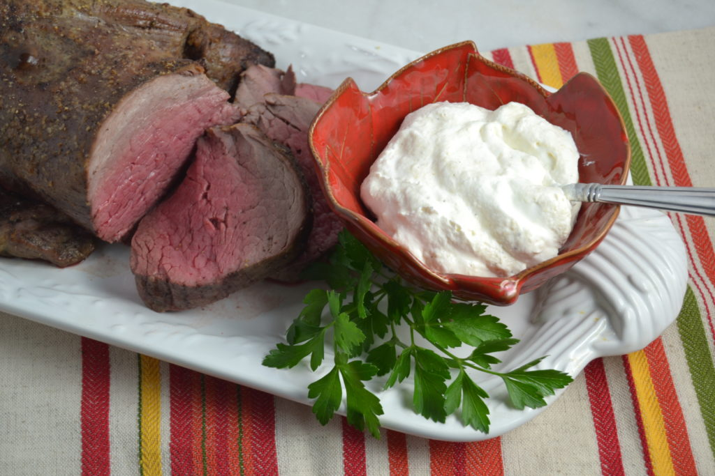 Beef Tenderloin with Horseradish Sauce from Julia Reed's South Cookbook