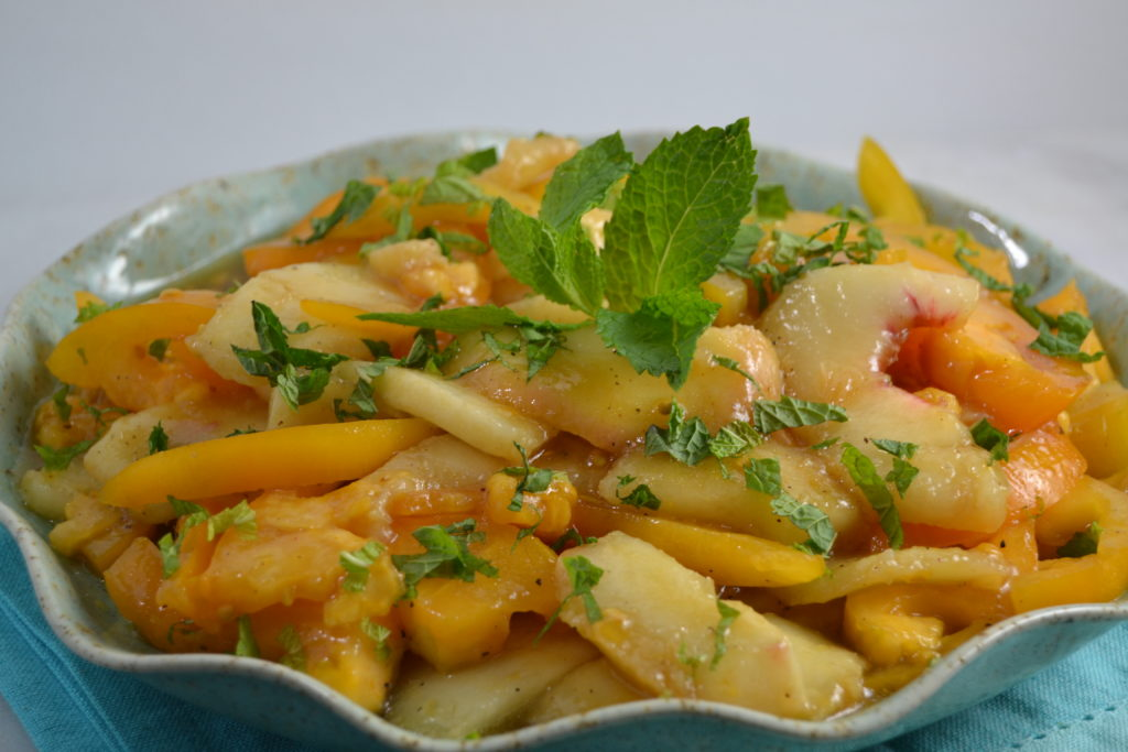 White Peach & Yellow Tomato Salad